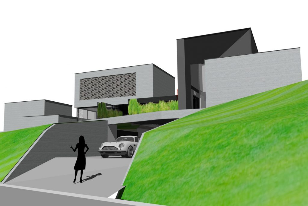 Architecten claes vanoppen passiefwoningen nulenergie architect kermt architect hasselt - Moderne huis op een helling ...