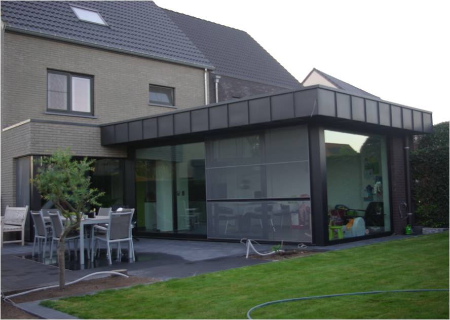Architecten claes vanoppen passiefwoningen nulenergie architect kermt architect hasselt - Uitbreiding huis glas ...
