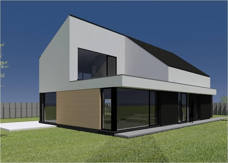 Architecten claes vanoppen passiefwoningen nulenergie architect kermt architect hasselt - Bungalow ontwerp hout ...