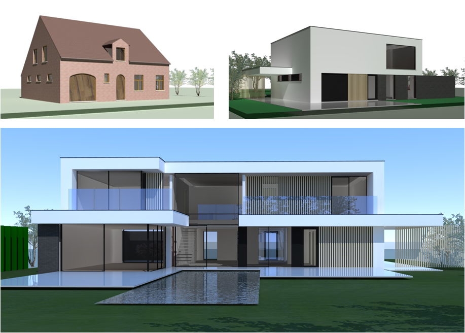 Pin moderne woningen on pinterest for Moderne strakke huizen